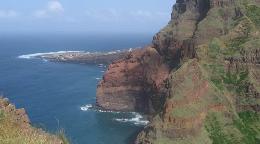 vista de Pinta do Sol en Cabo Verde